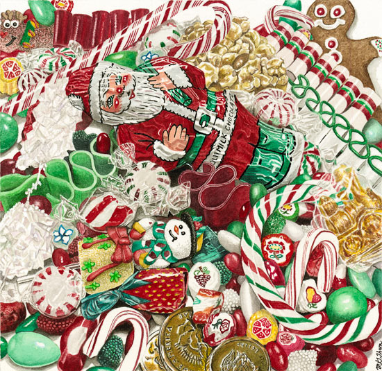 paintings christmas candy - photo #2